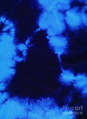 Abstract Blue Batik Pattern Print by Kerstin Ivarsson