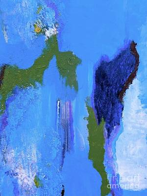 Painting - Abstract Blue To Blue by Saundra Myles