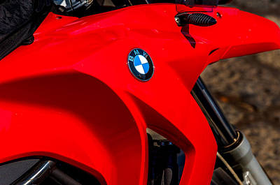 Abstract Bmw Gas Tank Print by Xavier Cardell