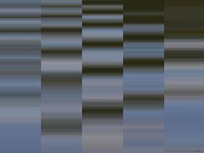 Digital Art - Abstract - Boat Wake - Two by Kathy K McClellan