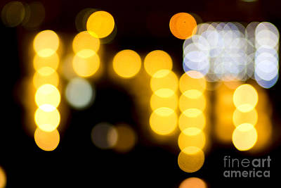 Photograph - Abstract Bokeh Lights II by Beverly Claire Kaiya