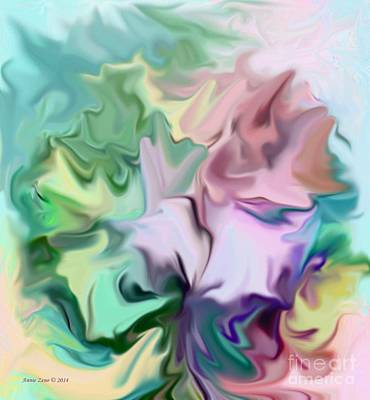 Painting - Abstract Bouquet by Annie Zeno