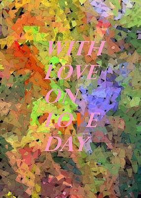 Digital Art - Abstract Bouquet Valentine Card  by Barbie Corbett-Newmin