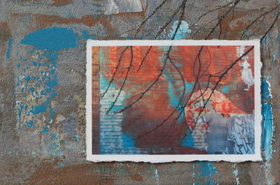 Mixed Media - Abstract Branch Collage by Anita Burgermeister