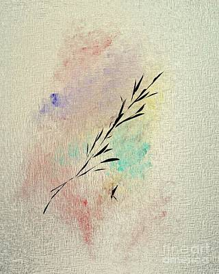 Modern Abstract Drawing - Abstract Branch by John Krakora