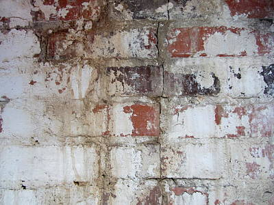 Photograph - Abstract Brick And Paint by Anita Burgermeister