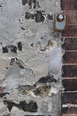 Photograph - Abstract Brick And Plaster by Anita Burgermeister