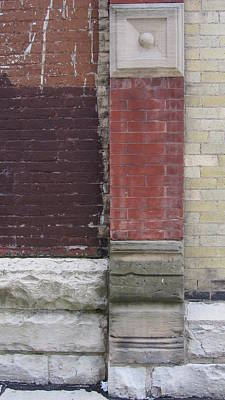 Photograph - Abstract Brick Wall 1 by Anita Burgermeister
