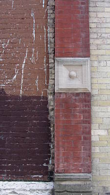 Photograph - Abstract Brick Wall 2 by Anita Burgermeister