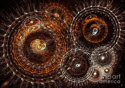 Steampunk Royalty-Free and Rights-Managed Images - Abstract bronze circle fractal  by Martin Capek