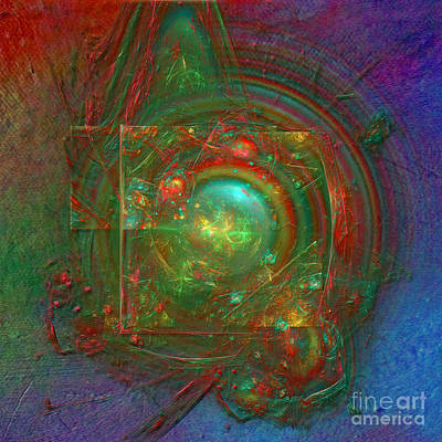 Print featuring the digital art Abstract Bubble by Alexa Szlavics