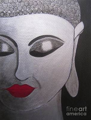 Painting - Abstract Buddha by Priyanka Rastogi