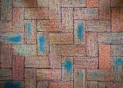 Burned Clay Photograph - Abstract Burnt Bricks by Jozef Jankola