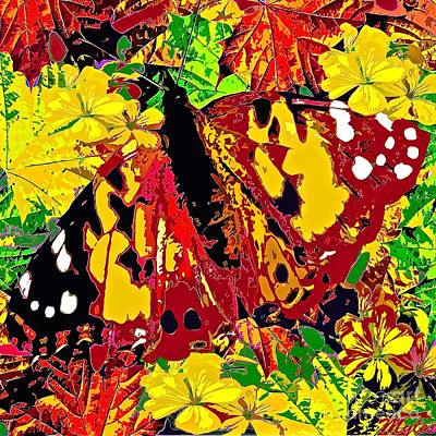 Painting - Abstract Butterfly #3 Autumn by Saundra Myles