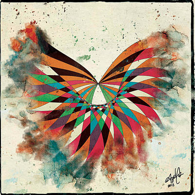 Abstract Butterfly Art Print by April Gann