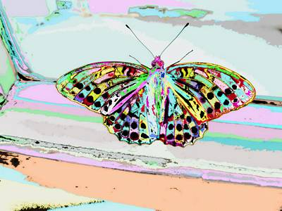 Perspective Mixed Media - Abstract Butterfly by Marianna Mills