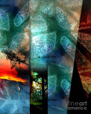 Art Print featuring the digital art Abstract Calling by Allison Ashton