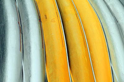 Photograph - Abstract Canoes by Valentino Visentini