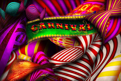 Photograph - Abstract - Carnival by Mike Savad