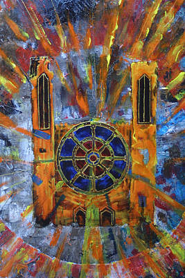 Painting - Abstract Cathedral 01 by Jakub DK