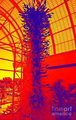 Pathway Digital Art - Abstract Chihuly At Missouri Botanical Gardens by Luther Fine Art