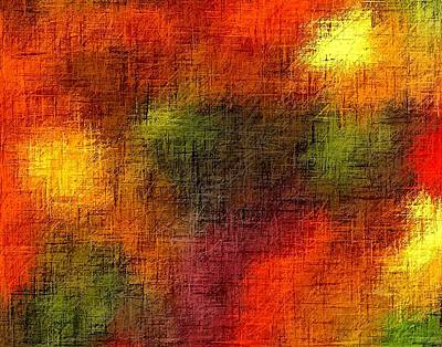Gethsemany Painting - Abstract Christian Earthtones by L Brown