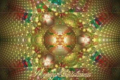 Digital Art - Abstract Christmas Card by Sandy Keeton