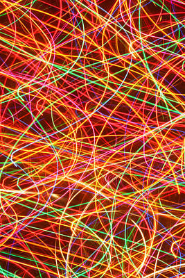 Photograph - Abstract Christmas Lights by Barbara West
