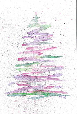 Painting - Abstract Christmas Tree by Marsha Woods
