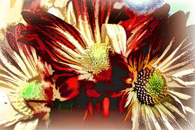 Photograph - Abstract Chrysanthemums by Charles Muhle