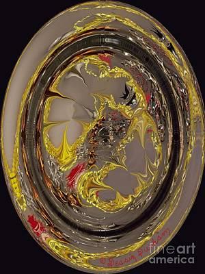 Abstract Circle Of Light Art Print
