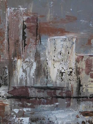 Painting - Abstract City Close Up 1 by Anita Burgermeister