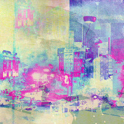 Abstract City Art Print by Mark-Meir Paluksht
