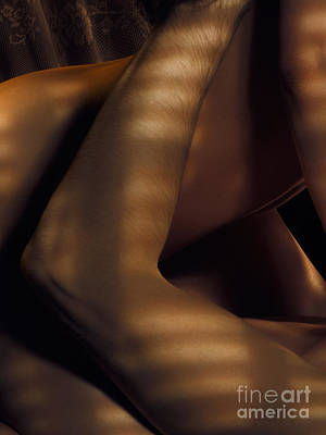 Abstract Nude Photograph - Abstract Closeup Of Man And Woman Making Love by Oleksiy Maksymenko