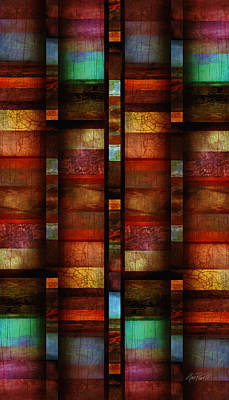 Color Block Digital Art - Abstract Color Block Vertical  by Ann Powell