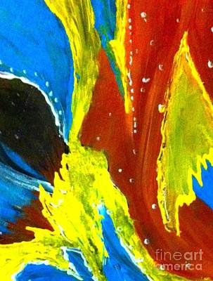 Painting - Abstract Color Burst by Saundra Myles