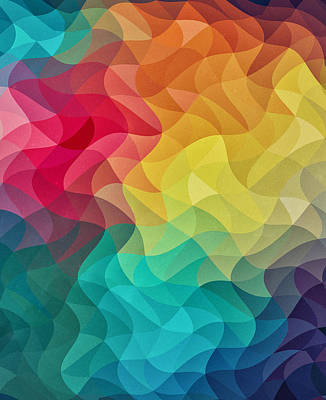 Abstract Color Wave Flash Art Print by Philipp Rietz