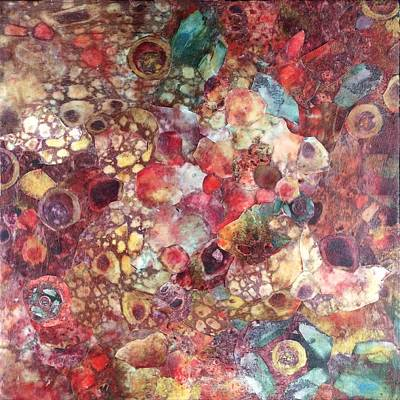 Mixed Media - Abstract Colorburst by Judy Tolley