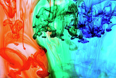 Photograph - Abstract Colored Dye In Water by Thomas J Peterson