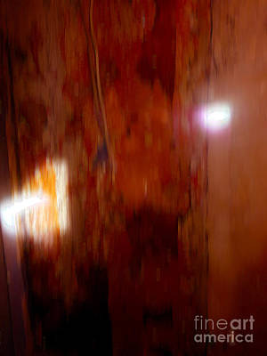 Painting - Abstract Colorfield Burnt Sienna With Lights by Anne Cameron Cutri