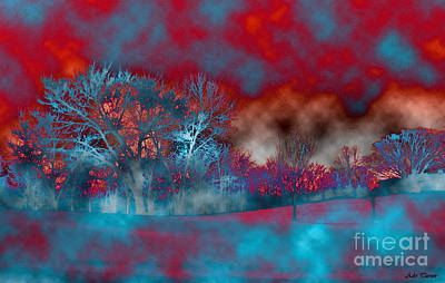 Snowy Digital Art - Abstract Colorful Snow Day by Minding My  Visions by Adri and Ray