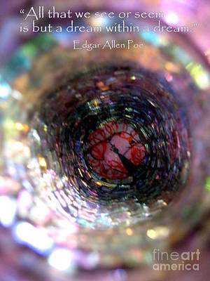 Photograph - Abstract Colors Quote by Marlene Rose Besso