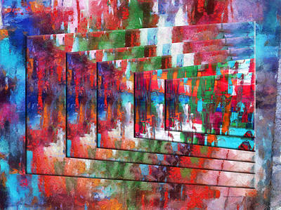Featured Images Mixed Media - Abstract Colors Right Panel 03 by Thomas Woolworth