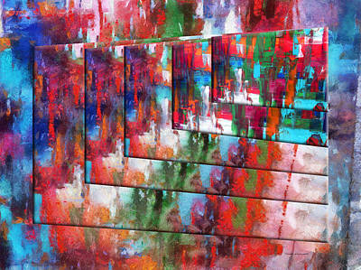 Featured Images Mixed Media - Abstract Colors Right Panel 04 by Thomas Woolworth