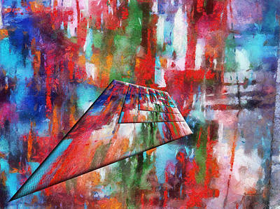 Featured Images Mixed Media - Abstract Colors Right Panel 05 by Thomas Woolworth