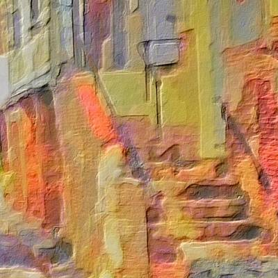 Digital Art - Abstract Comanche Steps - Square by Lyn Voytershark