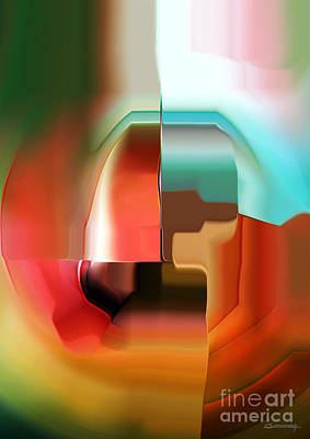 Conceptual Drawing - Abstract Composition 1 by Christian Simonian