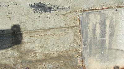 Photograph - Abstract Concrete Plate 1 by Anita Burgermeister