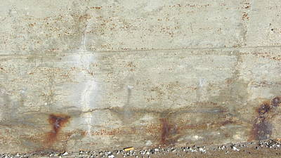 Photograph - Abstract Concrete Subtle Rust by Anita Burgermeister