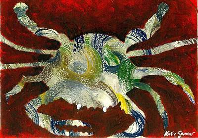 Painting - Abstract Crab by Katie Sasser